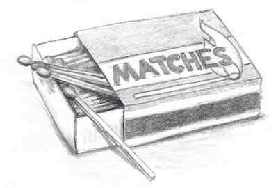 Matchbox illustration from third chapter of Sagacitas